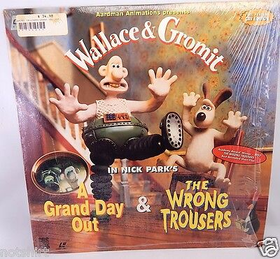 Wallace & Gromit A Grand Day Out The Wrong Trousers Laserdisc Ld Laser Disc Dog