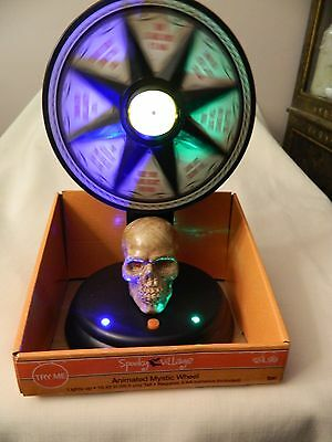 Nib Spooky Village Animated Mystic Wheel - Lights, Motion & Sound - Great