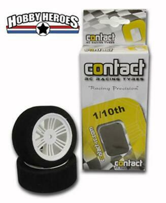 Contact 1:10 RC Foam Touring Car mounted tires (2) Rear 30mm, 35 Shore 13504