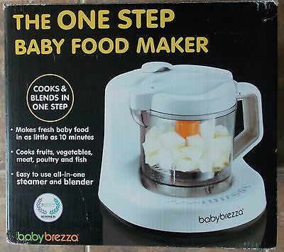 Baby Brezza One Step Baby Food Maker ~ NEW Cook Blend Steam Fruits Veggies Meat