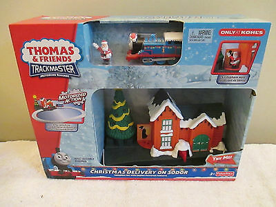 NEW Thomas Tank Train Motorized Trackmaster Engine Christmas Deliver On Sodor