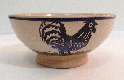 Nicholas Mosse Dip Bowl Rooster Footed Dish Pottery Made In Ireland Vintage