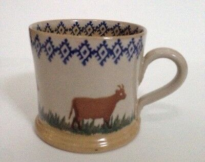 Nicholas Mosse Mug Cup Goat Cow Pottery Made In Ireland Vintage
