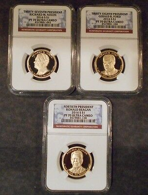 2016 Presidential Proof Ngc Pf70 3-Coin Set **free Shipping**