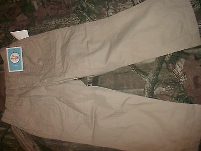 Boys Toddler Pull-On Elastic Waist Khaki Pants size 2T