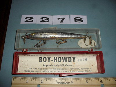 S2278 Vintage fishing lure Cordell Boy Howdy with box topwater prop bait surface