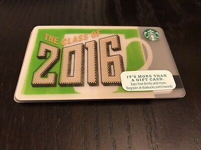 (5) BRAND NEW Starbucks Gift Card Lot Class Of 2016 Post Year