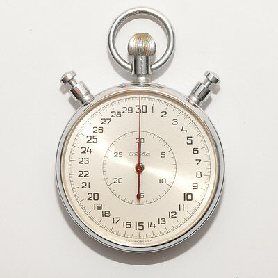 SLAVA Schleppzeiger Addition-Stoppuhr SLAWA mechanische Chronometer Timer USSR