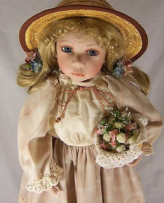 "Vintage Morning International Doll Crafters 24"" Ltd. Andrea Porcelain w Stand"