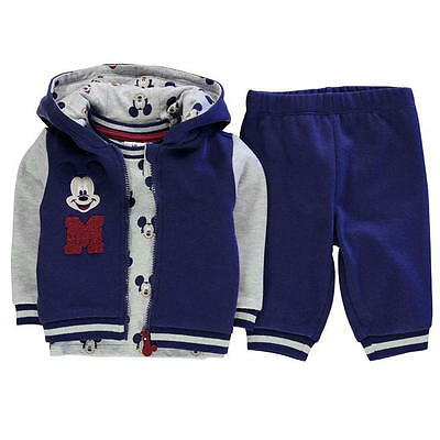 Disney Mickey Mouse Set Freizeit Jogging Hose Jacke T-Shirt 56 62 68 74 80 86 92