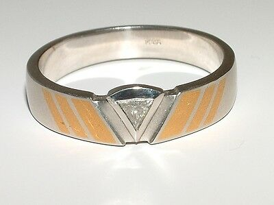 Platin  Ring Feingold  Diamant 0,10 ct  950 Pt  Gr. 55