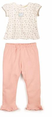 Bunnies by the Bay Pretty Girl Friends Shirt Pants Set Infant Baby Girl Outfit