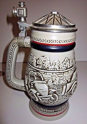 AVON Beer Stein - AUTOMOBILES CARS - 1979 (Handcrafted in Brazil) Lidded