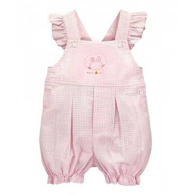Bunnies by the Bay Peek A Boo Shortalls Set Romper Infant Baby Girls Pink 902559