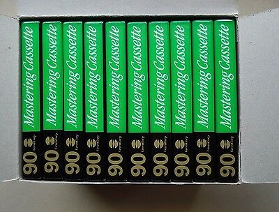 AUDIO CASSETTE TAPES - 90's - PACK OF 10 - NEW AND UNOPENED