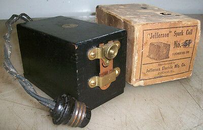 110V JEFFERSON BUZZ COIL New In Box! New Old Stock Gas Engine Spark Coil