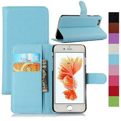 New Wallet Card Pocket Flip PU Leather Phone Case Cover For iPhone 6s 7 / 7 Plus