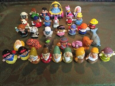 Fisher Price Little People Snow White & The Seven Dwarfs Minnie Daisy 25 Figures