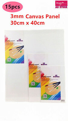 15x Blank Canvas Panel Bulk Lots Wholesale 30x40cm 3mm Thick Art Painting YW