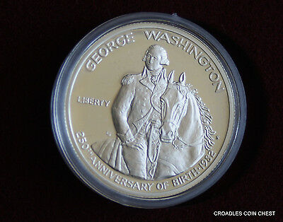 1982 Silver Proof Usa Half Dollar George Washington Coin In Box High Cv #2