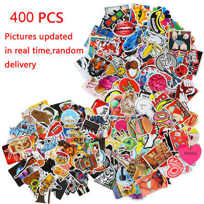 400pcs Sticker Bomb Graffiti Vinyl For Car Skate Skateboard Laptop Luggage Decal