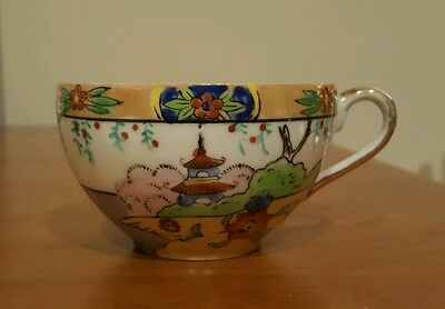 Made In Japan  Hand Painted Tea Cup Tt Circa 1920