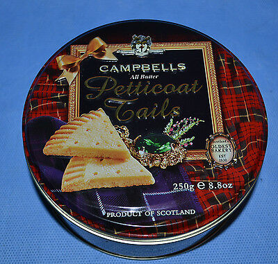 Cambells Petticoat Tails Tin Canister Scotland Tartan