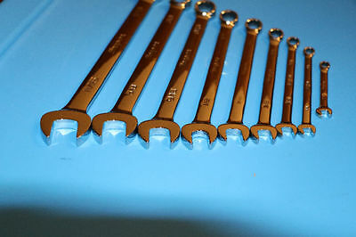 SNAP ON 12 pc 12-Point SAE Combination Wrench Set 7/32 - 7/8 OEX710 set - NEW