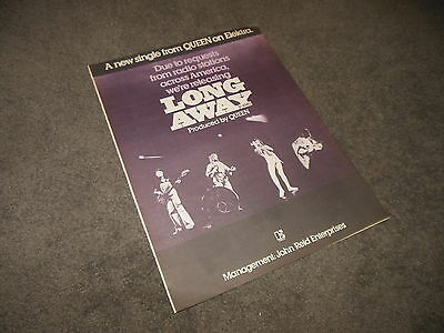 QUEEN Long Away BILLBOARD 11x14 Ad Poster
