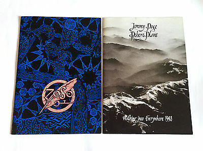 JIMMY PAGE ROBERT PLANT lot of 2 JAPAN TOUR BOOK 1995 & 1998 Led Zeppelin