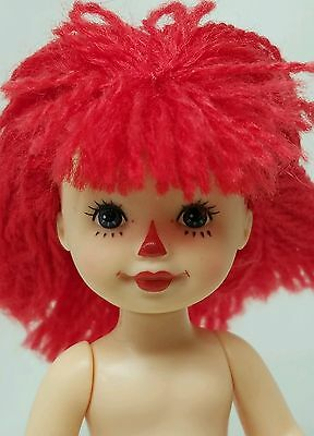 Nude Painted Red Yarn Hair~Mattel Raggedy Barbie's Kelly Tommy Doll For Diorama