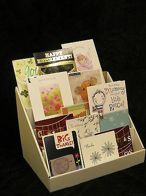 3 x 13 inch 4 tiers Greeting Card Display Stand in Collapsable Cardboard