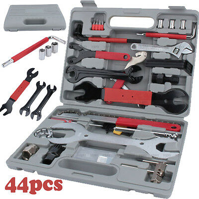 UK Bike Cycling Bicycle Maintenance Repair Hand Wrench Tool Kit Set Box Case 44x