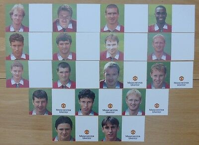 Pre 2000 Unsigned Man Utd Club Cards - Individually Priced