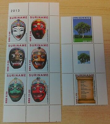 Suriname 2013 x 2 Masks & Unity  issues  per scans MNH