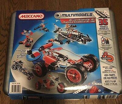 Meccano Multimodels deluxe mechanical set 35 models 450+parts New -sealed