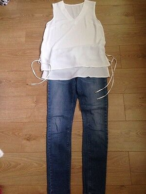 Zara Skinny Jeans 38 and Atmosphere Top 12 Bundle