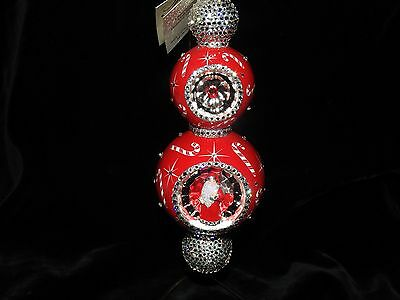 Patricia Breen Jeweled Reflector Fete De Noel Red Candy Canes