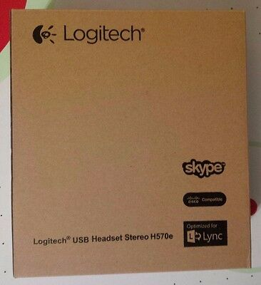 Logitech H570e USB Stereo Headset with Noise-Cancelling Microphone (New)