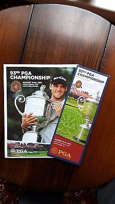 2011 USPGA Golf Championship Programme with Sunday Draw Sheet