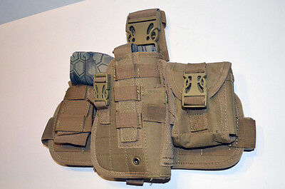 Tactical Drop Leg Thigh Gun Pistol Holster Color Glock Sig H&K S&W (Tan Desert)