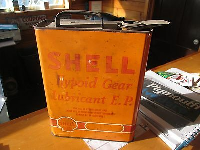 Early Original Shell Hypoid Gear Oil One Gallon Can Metal