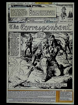 Weird Western Tales #57 Original Art- Scalphunter Story-Luis Dominguez- 3  Vg