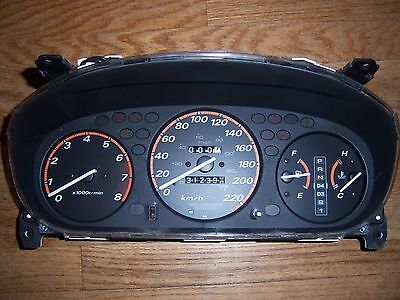 96 97 98 99 00 01 Honda Civic CR-V, A/T, 312K Orange Gauge Cluster, USED