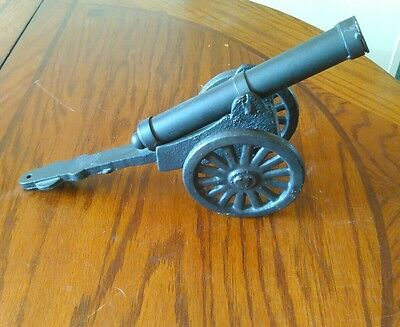 cast iron cannon toy 12 in long heavy
