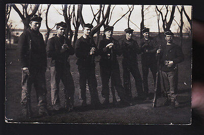 Cherbourg Fusiliers Marins Cp Photo 1918