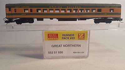 Z Scale MTL 552 51 030 Great Northern Passenger Coach Car # 1120