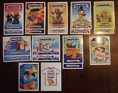 Garbage Pail Kids Presidential Inauguration Inaug-hurl Ceremony Set Trump NEW