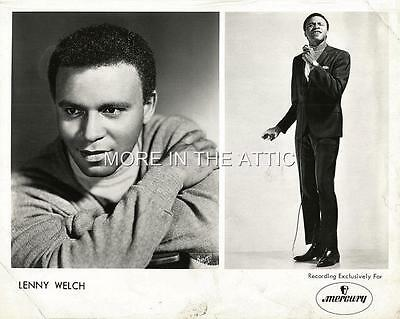 Lenny Welch Original Vintage Mercury Records Promo Portrait Still
