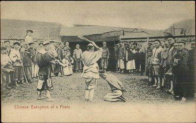 MaCabre - China Chinese Execution of a Pirate c1910 Postcard